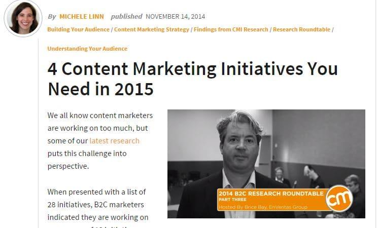 article du content marketing institut traduit par l'Institut du contenu, à propos de stratégie de contenu