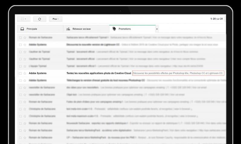 objet emailing : n'oubliez pas le pre-header dans vos campagnes