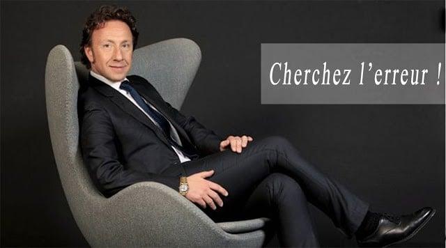 Stephane Bern utilise la technique trouvez l'erreur pour le contenu du site de son fan-club