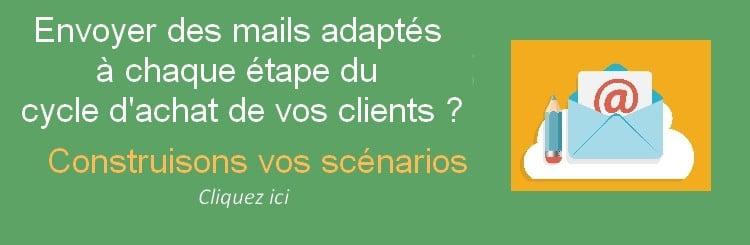envoyez des mails à chaque étape du cycle d'achat client