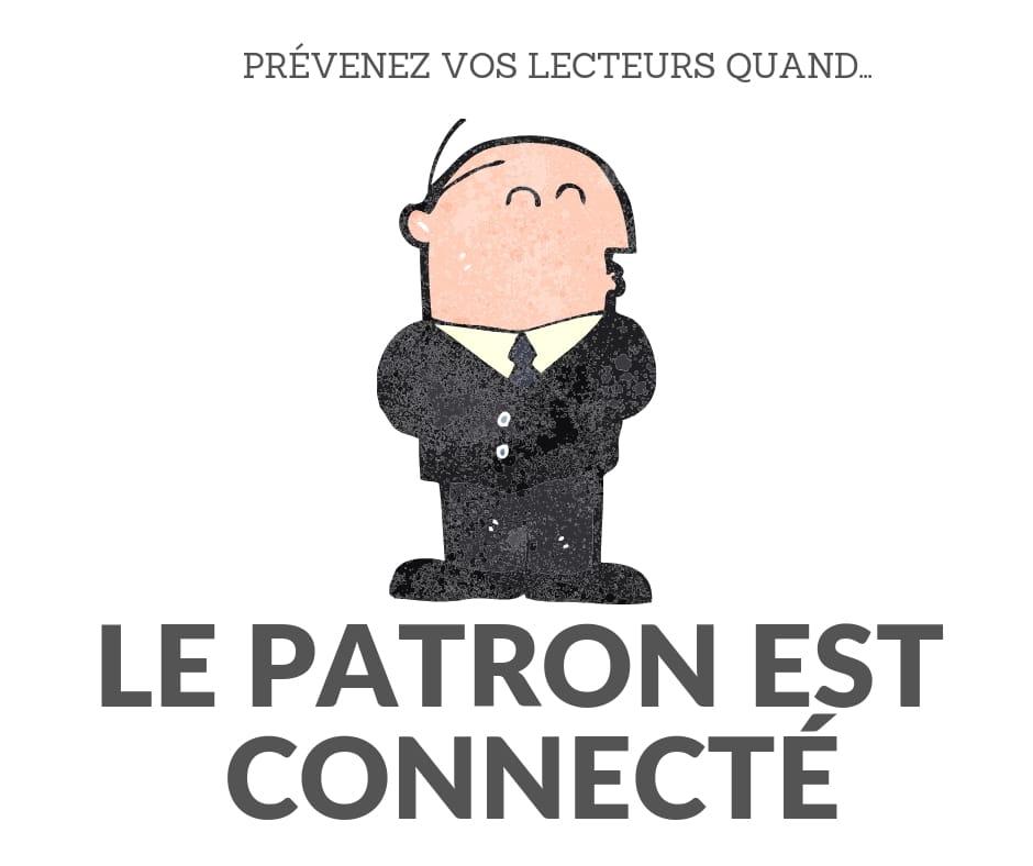 LE PATRON EST CONNECTE : Institut du contenu