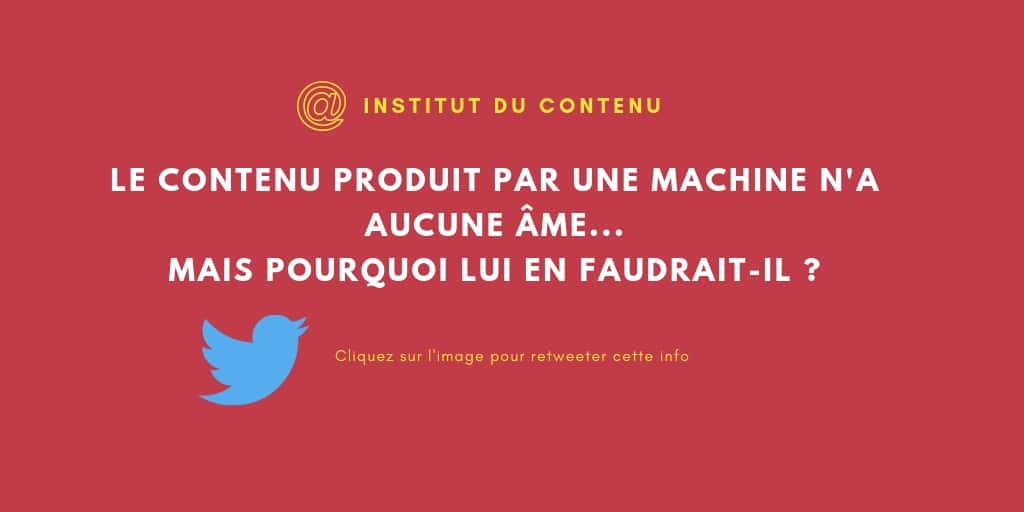 info à retweeter conduit produit par une machine