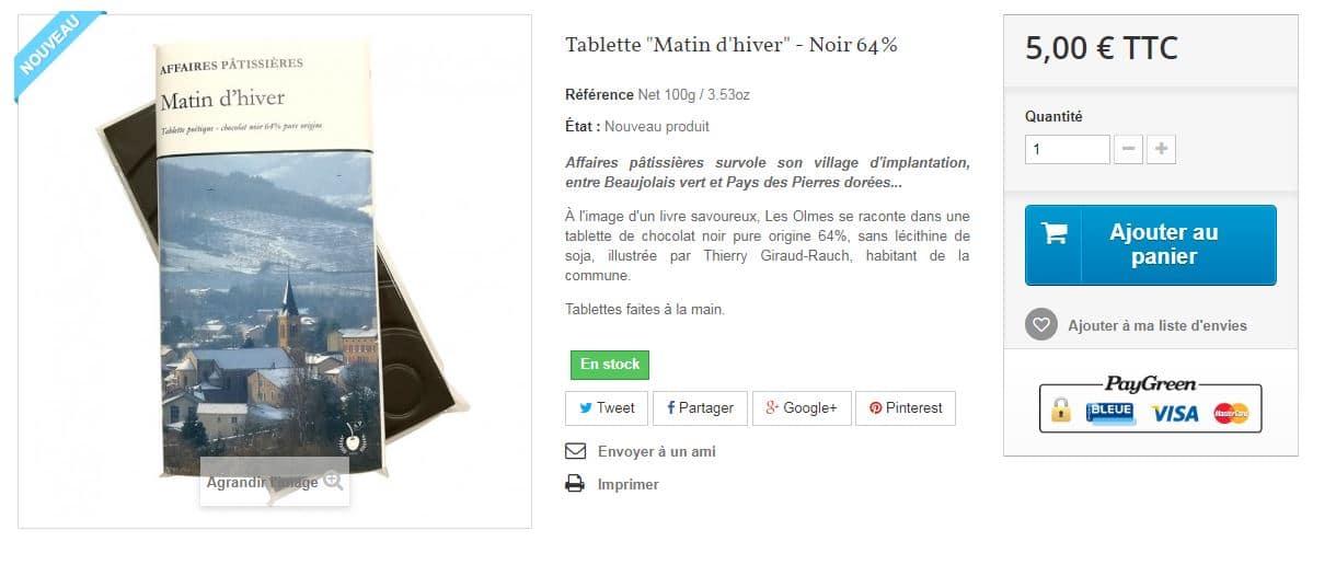 tablette de chocolat livre de poche matin d'hiver INSTITUTDUCONTENU.COM