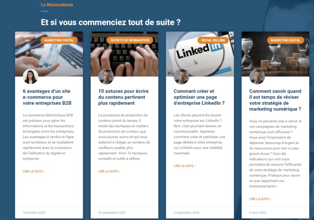 Home page du site oni.fr, Patrick Duhaut commente sa page d'accueil