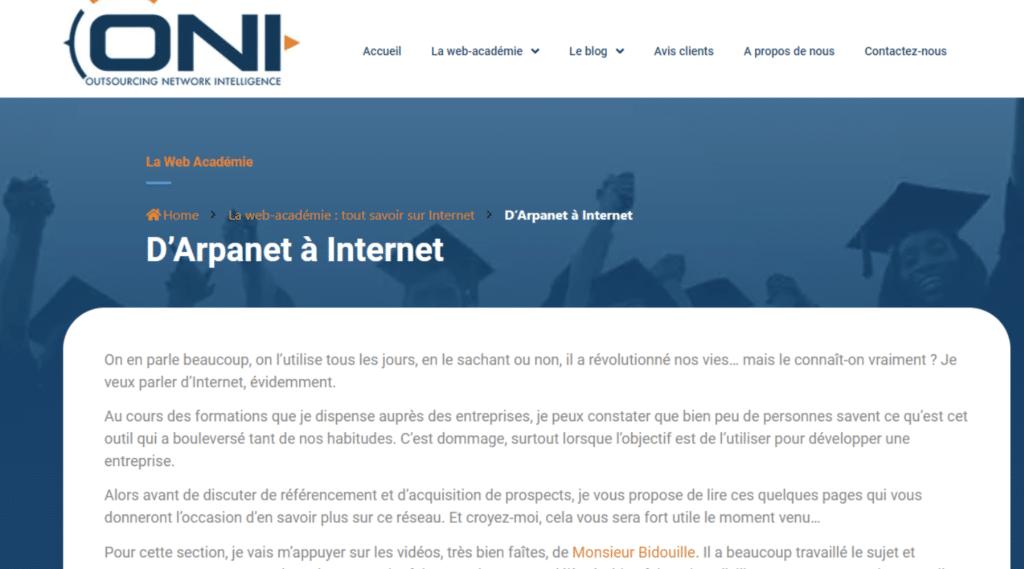 Web académie de Patrick Duhaut