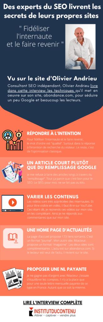 infographie les tuyaux SEO d Olivier Andrieu